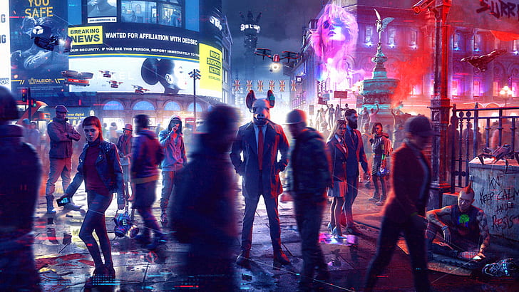 watch dogs legion watch dogs ubisoft video game art video game characters hd wallpaper preview