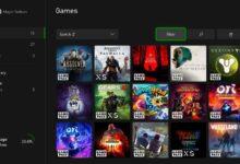 صورة هكذا ستظهر قائمة ألعابك المختلفة على أجهزة Xbox Series X / S .