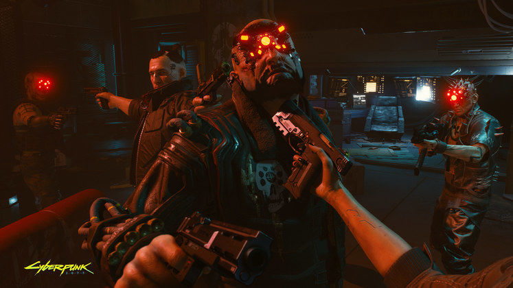 large screen Cyberpunk2077 Outnumbered But Not Outgunned RGB en