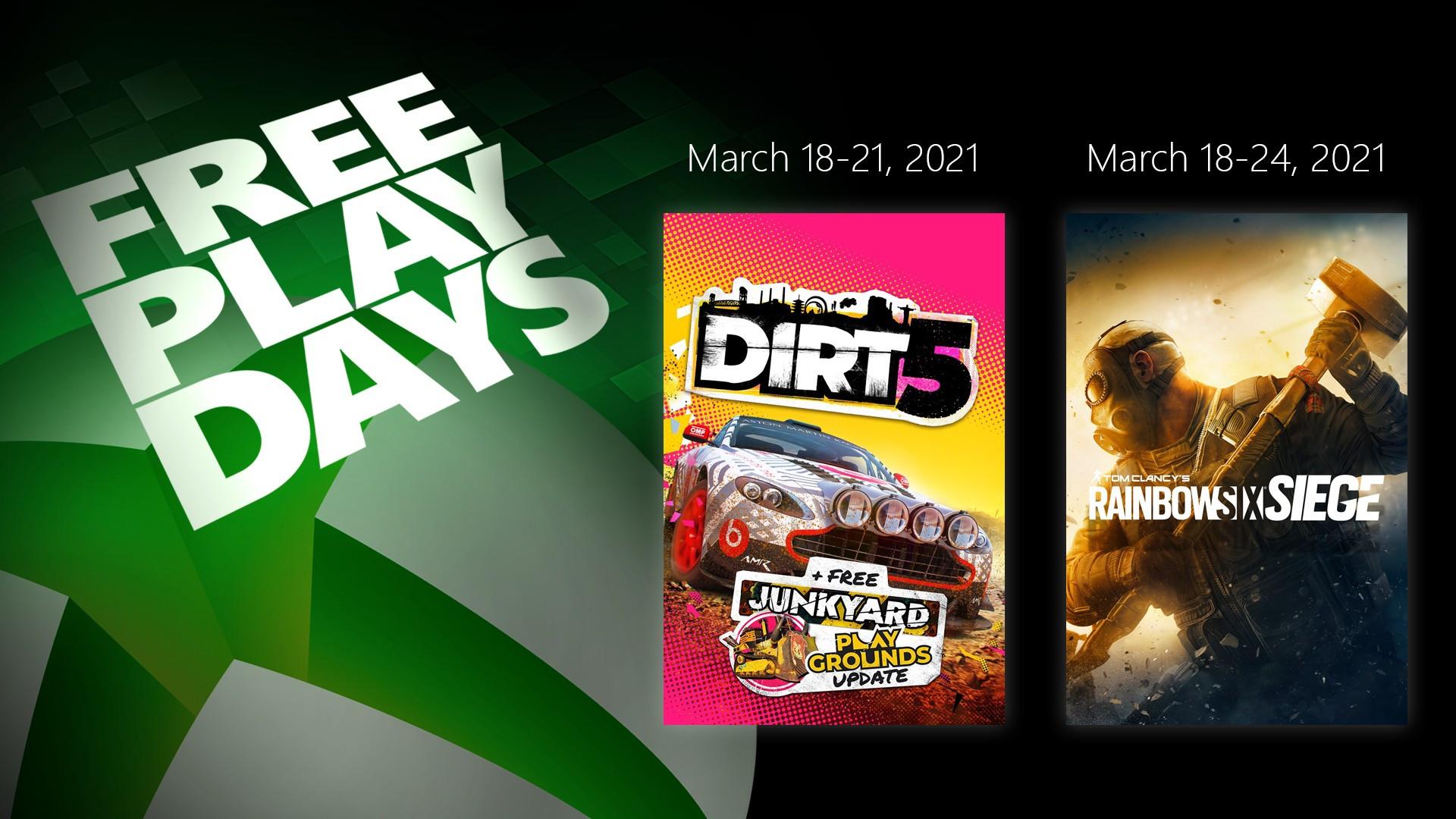 XBL Free Play Days