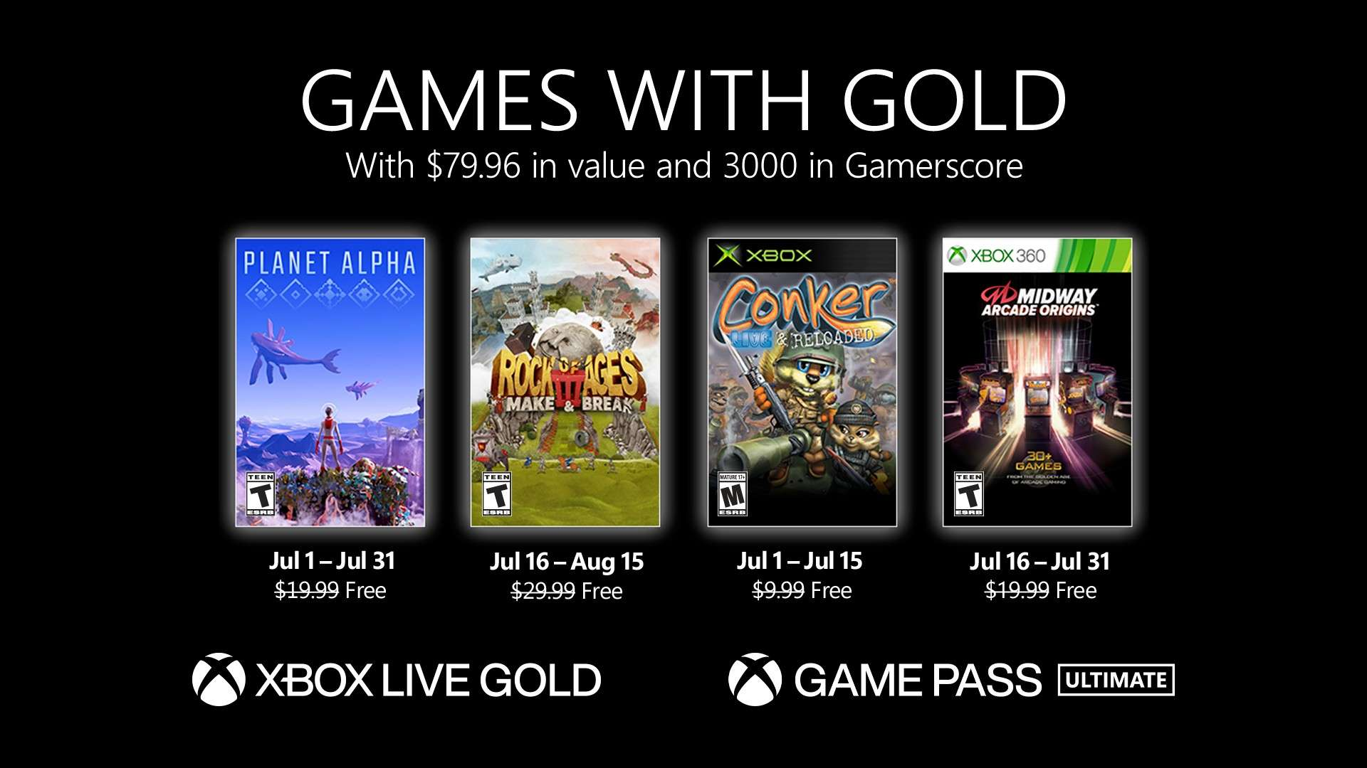 Games with Gold Jul